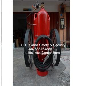 alat alat tabung pemadam kebakaran racun api besar spbu catridge drychemical powder 100 kg merdeka trolley beroda dokar harga murah jakarta