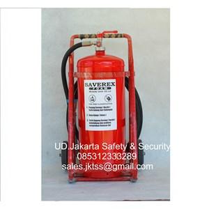 tabung beroda alat pemadam kebakaran api besar media foam afff saverex  35 liter trolley harga miring