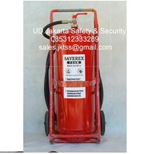 alat alat pemadam kebakaran api besar tabung beroda racun api saverex 85 liter trolley murah