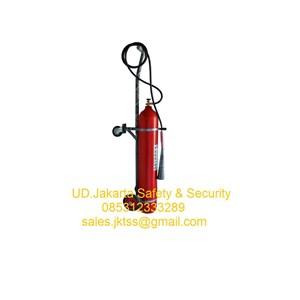 fire exthinguisher alat alat pemadam kebakaran api besar gas CO2 7 kg trolley harga murah