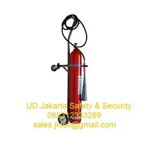 alat pemadam kebakaran api besar media gas co2 saverex 45 kg trolley harga murah