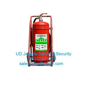alat pemadam kebakaran api besar APAB clean agent media gas HCFC medeka 25 kg trolley murah