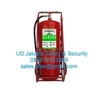 tabung isi clean agent pemadam kebakaran api besar APAB clean agent gas HCFC 75 kg trolley murah  1