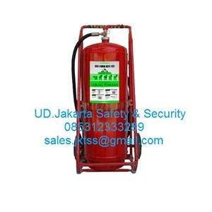 tabung isi clean agent pemadam kebakaran api besar APAB clean agent gas HCFC 75 kg trolley murah