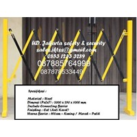 EXPANDABLE BARRIER SAFETY TRAFFIC AND GATES PAGAR PEMBATAS JALAN MURAH 1