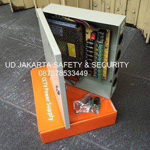 POWER SUPPLY BOX SECURITY CAMERA PORT CCTV SUPER 9 CHANNEL MURAH