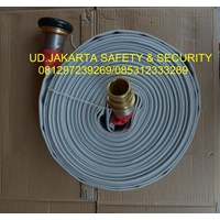 SELANG FIRE HOSE KAIN CANVAS PEMADAM KEBAKARAN HYDRANT 2 X 30 13 BAR+COUPLING MACHINO MURAH 1