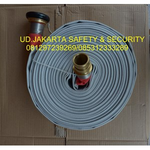 SELANG FIRE HOSE KAIN CANVAS PEMADAM KEBAKARAN HYDRANT 2 X 30 13 BAR+COUPLING MACHINO MURAH