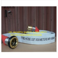 FIRE HOSE SELANG AIR PEMADAM KEBAKARAN HYDRANT 2-5 X 30 10 BAR CANVAS+COUPLING MACHINO MURAH 1