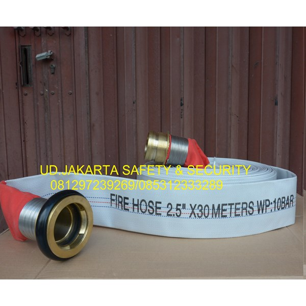 FIRE HOSE SELANG AIR PEMADAM KEBAKARAN HYDRANT 2-5 X 30 10 BAR CANVAS+COUPLING MACHINO MURAH
