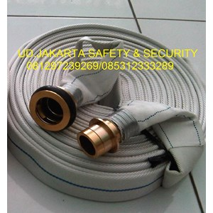 SELANG AIR PEMADAM KEBAKARAN FIRE HOSE HYDRANT CANVAS EPDM 2-5X30 METER 16 BAR+COUPLING MACHINO