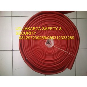 SELANG AIR HYDRANT PEMADAM KEBAKARAN API RED RUBBER SYNTEX 1-5 INCH 16 BAR+KOPLING MACHINO KUNINGAN
