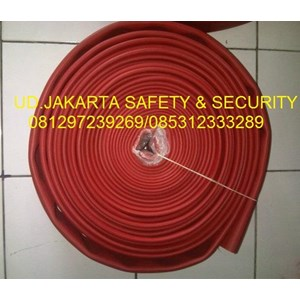 SELANG PEMADAM KEBAKARAN FIRE HOSE AIR HYDRANT RED RUBBER SYNTEX 2-5 INCH 16 BAR+KOPLING MACHINO