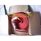 FIRE HOSE AIR SELANG HYDRANT PEMADAM KEBAKARAN API RUBBER UNIDUR 2 INCH 17 BAR+KOPLING MACHINO KUNINGAN LOKAL 1