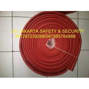 FIRE HOSE KARET RUBBER RED NBR SYNTEX SELANG AIR PEMADAM KEBAKARAN API HYDRANT 2-5X30 16 BAR+KOPLING MACHINO KUNINGAN TAIWAN HARGA MURAH JAKARTA