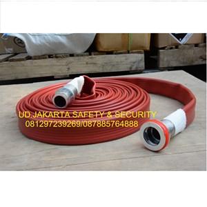 SELANG PEMADAM KEBAKARAN API HYDRANT SPRAYING FIRE HOSE KARET RED RUBBER NBR SYNTEX 1-5X30 16 BAR+KOPLING MACHINO ALUMINIUM HARGA MURAH JAKARTA