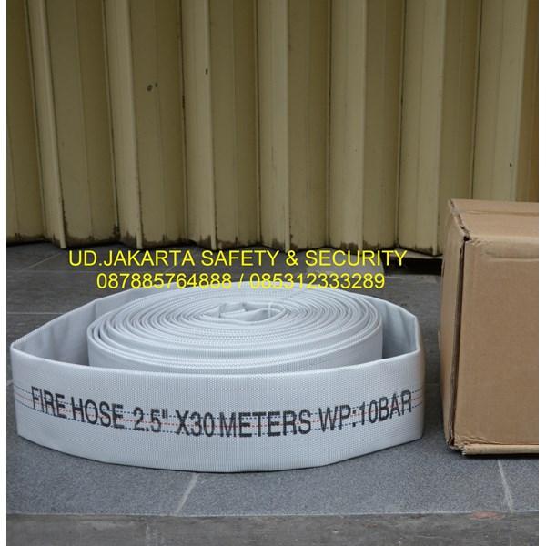 FIRE HOSE HYDRANT SPRAYING SELANG AIR PEMADAM KEBAKARAN API 2-5X30 10 BAR TIPE KAIN CANVAS+COUPLING STORZ HARGA MURAH JAKARTA