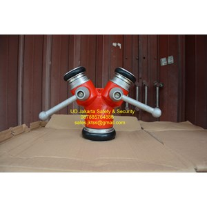 FIRE FIGHTING BRAZING Y CABANG 2 CONNECTION  ALUMINIUM IMPORT TUBE RESISTANCE HOSE MURAH