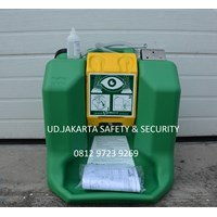 EMERGENCY STATION SAFETY SHOWER FOR RED DRY EYE WASH PROTECTION HAWS GRAVITY FED WATER PORTABLE 7500 JAKARTA 1