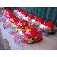 FIRE FIGHTER HELMET HELM PEMADAM KEBAKARAN PMK PLASTIK LOKAL GRADE 1 MURAH 1