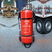 DISTRIBUTOR TABUNG APAB FIRE EXTHINGUISHER ABC DRYCHEMICAL POWDER 35 KG TROLLEY AMPUH ALAT PEMADAM  KEBAKARAN RACUN API HARGA MURAH JAKARTA