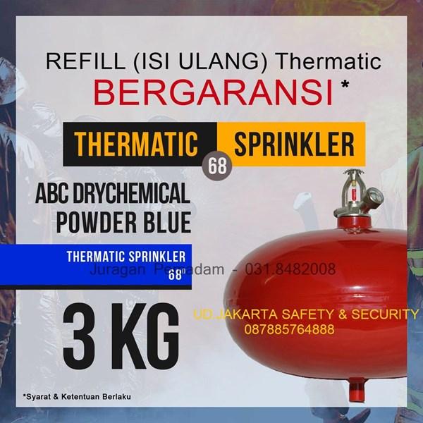 JASA PENGISIAN ISI ULANG REFILL TABUNG PEMADAM API THERMATIC DCP BLUE KAPASITAS 3 KG HARGA MURAH JAKARTA