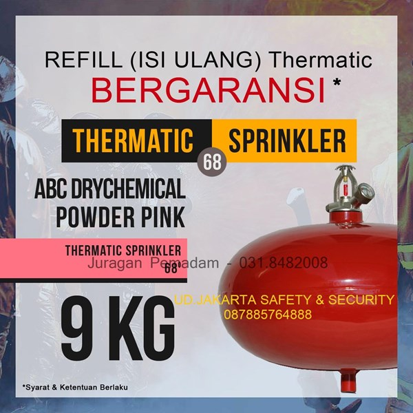 REFILL ISI ULANG JASA PENGISIAN TABUNG THERMATIC PEMADAM KEBAKARAN API DCP PINK 9 KG HARGA MURAH JAKARTA