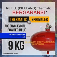 JASA PENGISIAN REFILL ISI ULANG THERMATIC TABUNG PEMADAM KEBAKARAN API DCP BLUE 9 KG AUTO HANGING FE UFO HARGA MURAH JAKARTA