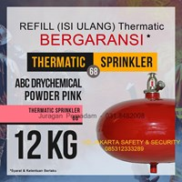 JASA PENGISIAN TABUNG THERMATIC REFILL ISI ULANG PEMADAM KEBAKARAN API DCP PINK 12 KG HARGA MURAH JAKARTA
