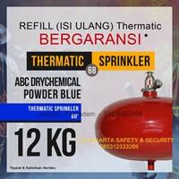 JASA PENGISIAN REFILL ISI ULANG TABUNG PEMADAM API TEHRMATIC KAPASITAS 12 KG DCP BLUE HARGA MURAH JAKARTA