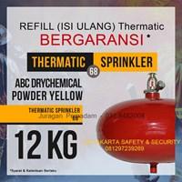 JASA ISI ULANG REFILL PENGISIAN TABUNG THERMATIC PEMADAM KEBAKARAN API 12 KG DCP YELLOW HARGA MURAH JAKARTA