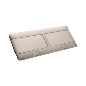 Dari Stop Kontak Meja atau Lantai -6 2x3 modul Brushed Brass Stainless steel 0