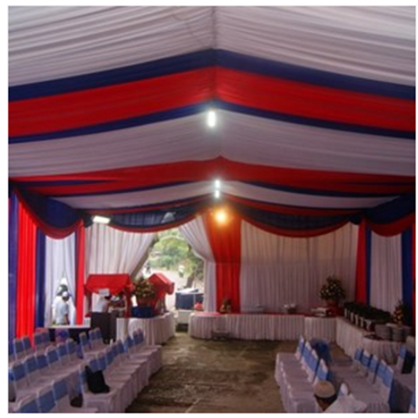 Plafon Tenda pesta model Serut
