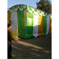 background dinding tenda pesta