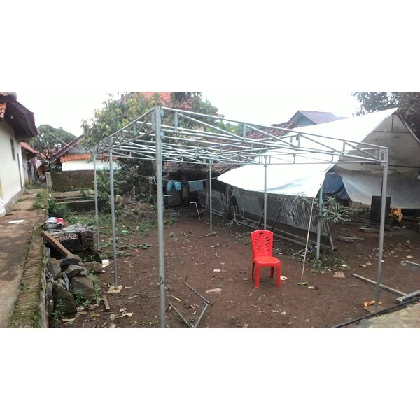 rangka tenda pesta besi ukuran 4x6