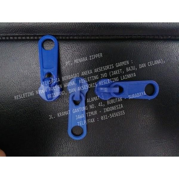 Variasi Kepala Resleting No. 5 Standard Biru Benhur Plastik