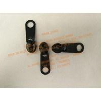 Variasi Kepala Resleting No. 3 Standard Hitam Black Plastik