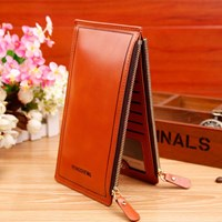 Jual Dompet Kulit Import Asli Warna Brown (Coklat)