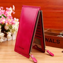 Wallet Leather Import Original Color Red (Maroon)