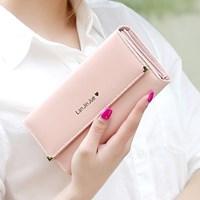 Dompet Wanita Kulit Import Asli Warna Pink (Merah