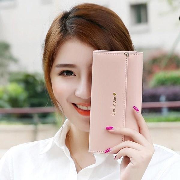 Dompet Wanita Kulit Import Asli Warna Pink (Merah Muda)