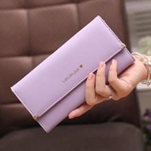Women's Wallets Genuine Import Skin Color Purple (