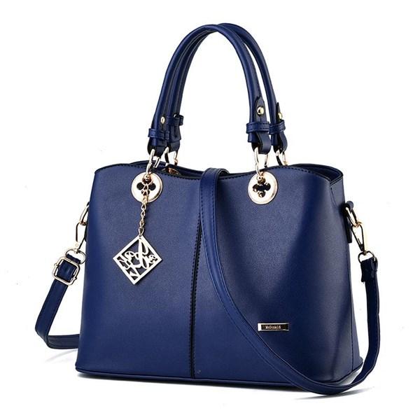 Tas Tangan & Clutch Wanita Kulit Import Asli Warna Blue (Biru)