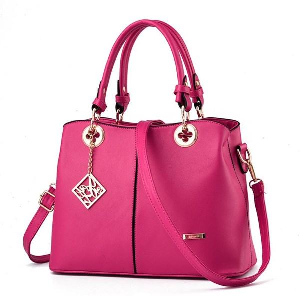 Tas Tangan & Clutch Wanita Kulit Import Asli Warna Pink (Merah Muda)