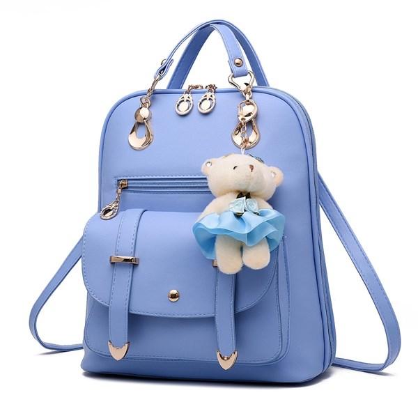 Tas Ransel Wanita Kulit Import Asli Warna Blue (Biru Muda)