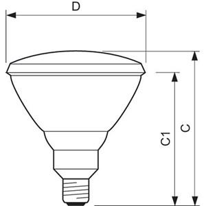 Dari Lampu Philips  PAR38 120W E27 240V 12D SP-FL 5