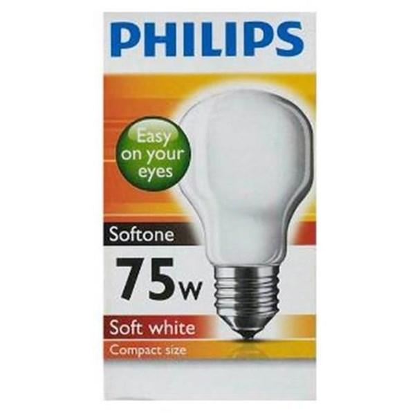 Lampu Philips Softone 75W  E27
