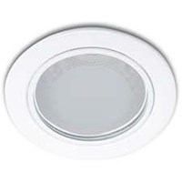 Philips Downlight Glass Rec. 13804  4 Inch 1x18W E27 White