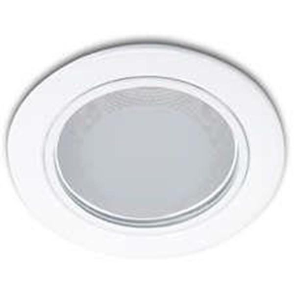 Philips Downlight Glass Rec. 13804  4 Inch 1x18W E27 White