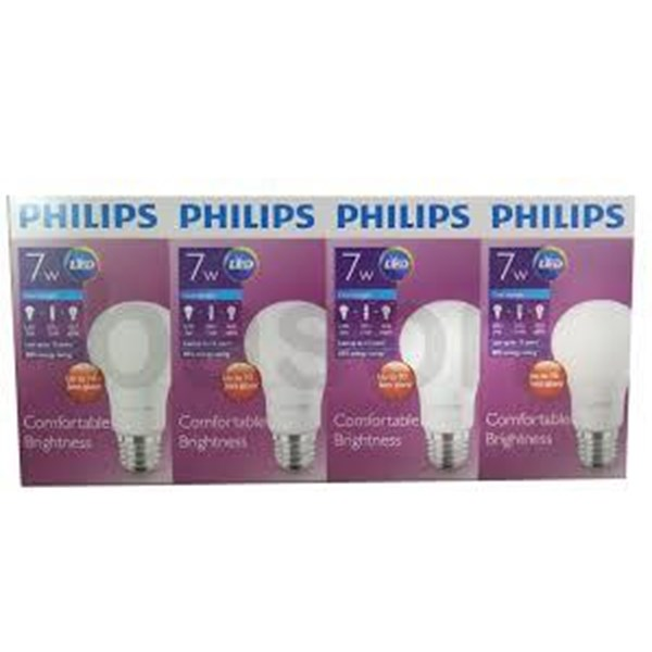 Lampu Philips  LED BUlB UNICEF  7-60w cdl (isi 4)